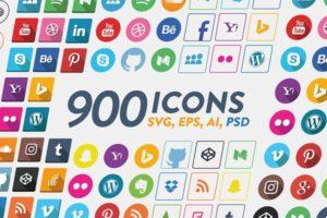 900 Social Media Icons for $6