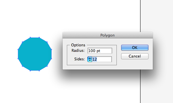 Polygon Tool Options in Adobe Illustrator