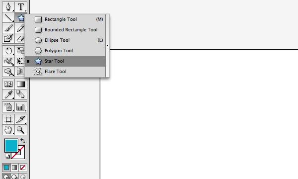 Star tool in Adobe Illustrator