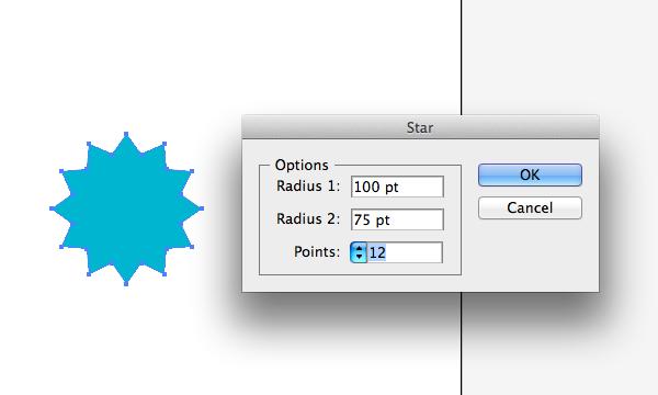 Star tool settings in Adobe Illustrator