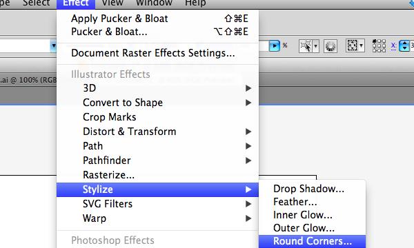 Round corners in Adobe Illustrator