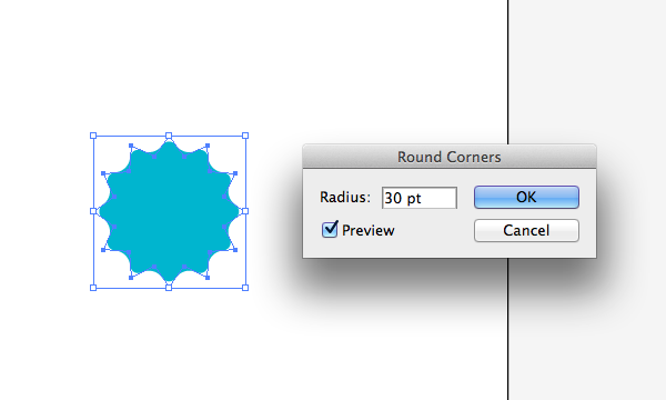Rounded corner radius in Adobe Illustrator