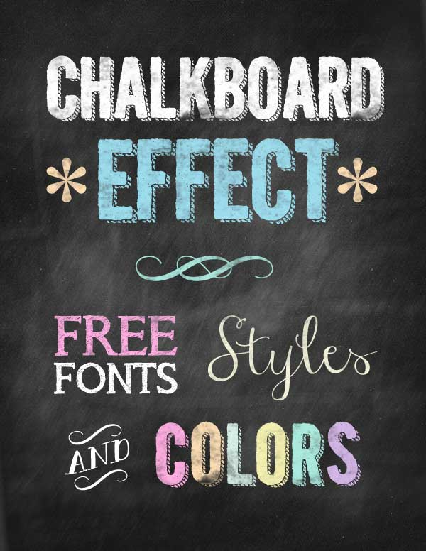 Hipster Chalkboard Look And Feel Design Pieces