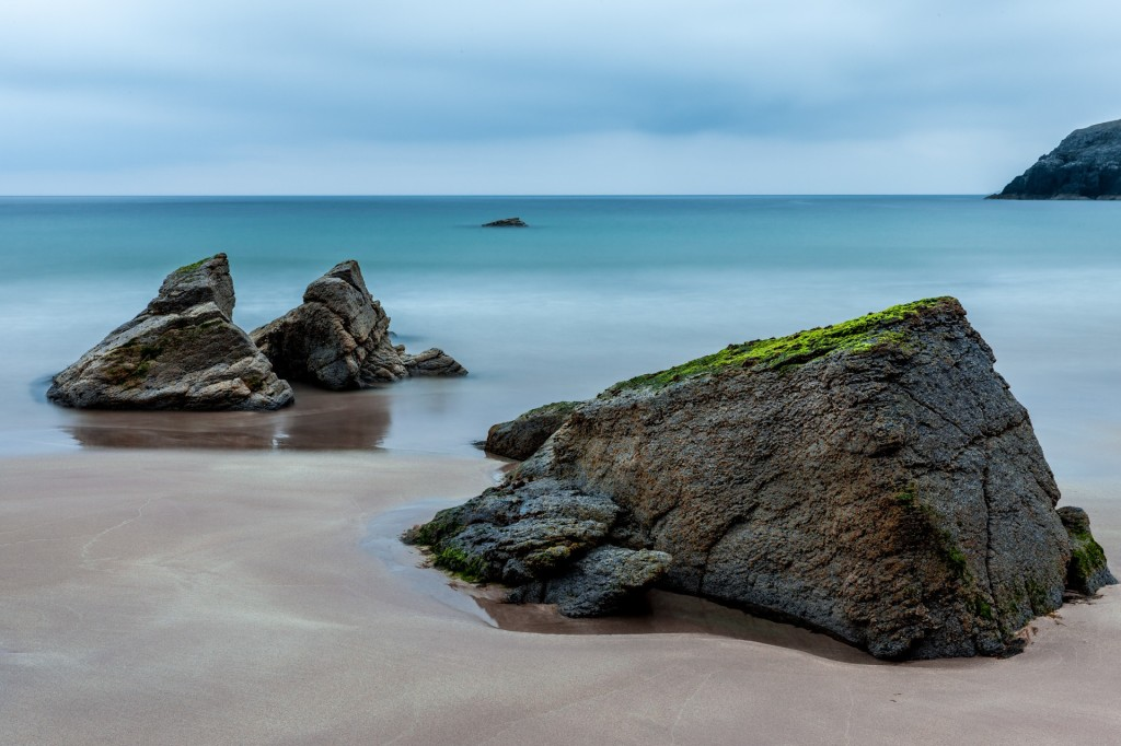 Rocks on the beach in Scotland
