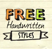 Handwritten fonts, backgrounds, vectors and techniques