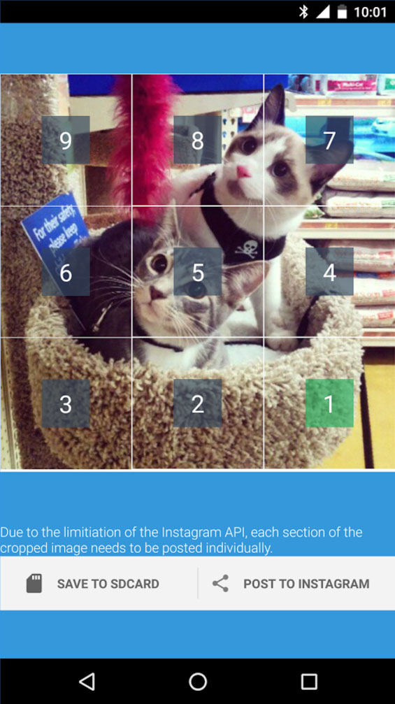 Instagrid Grids for Instagram grid mosaics