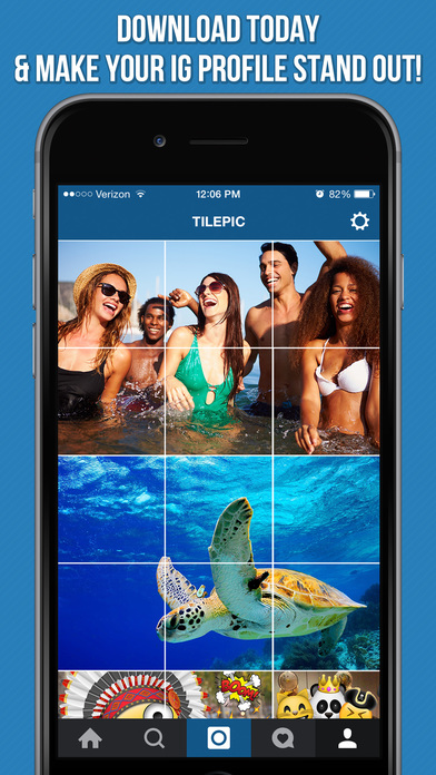 Tilepic instagram grid creator