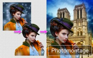 Remove backgrounds to create a photo montage