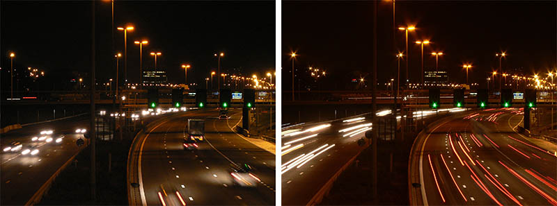Slow shutter speed example