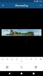 Split photo into a swipeable panorama on Instagram - Design