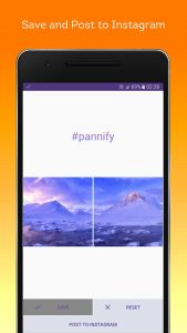 Pannify is fee and create panoramas up to 10 squares wide.